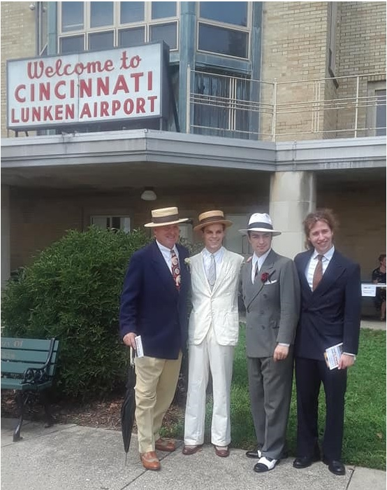Mike and three dapper gents at the Cincy 1940's day, Aug. 11, 2018.
