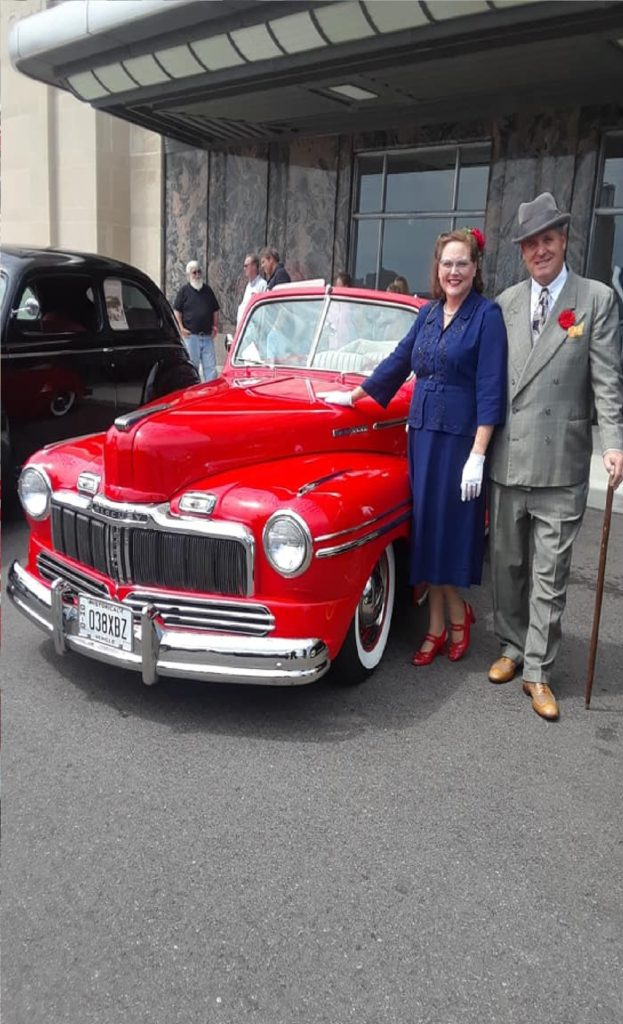 Mike & Mary at the Cincy 1940's day, Aug. 10, 2019; we won for best dressed couple!