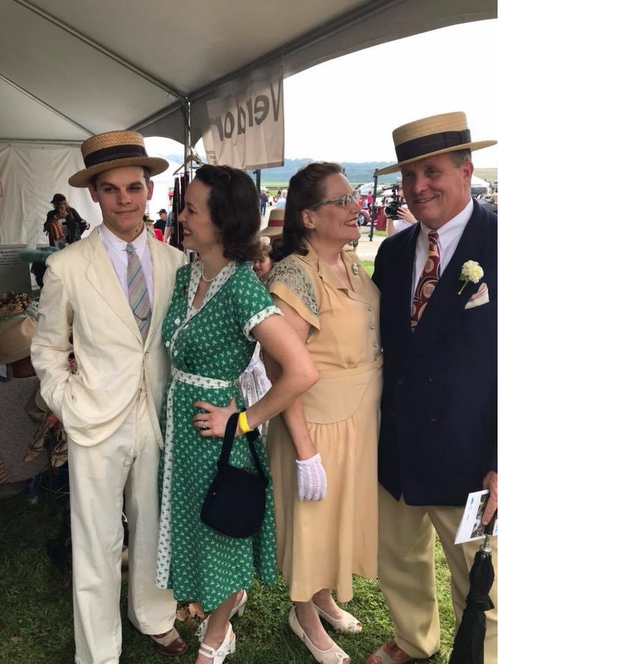 Mike, Mary, Patrick and Katie at the Cincy 1940's day, Aug. 11, 2018.